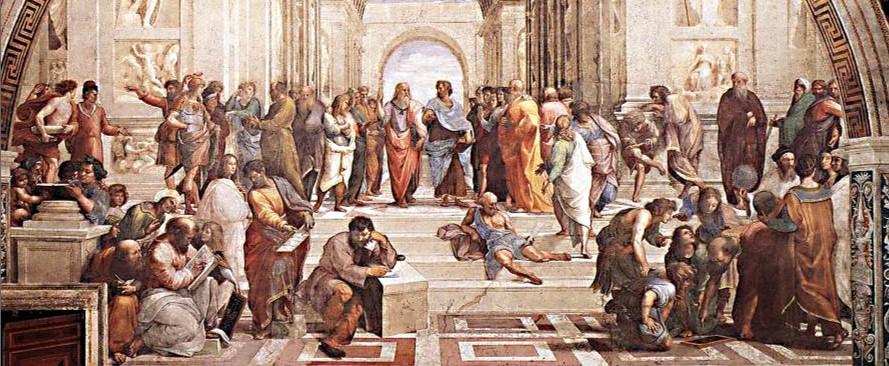Pintura A Escola de Atenas - Grécia Antiga