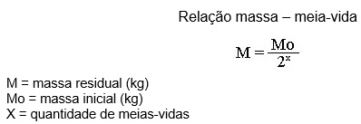 radioatividade - relação massa