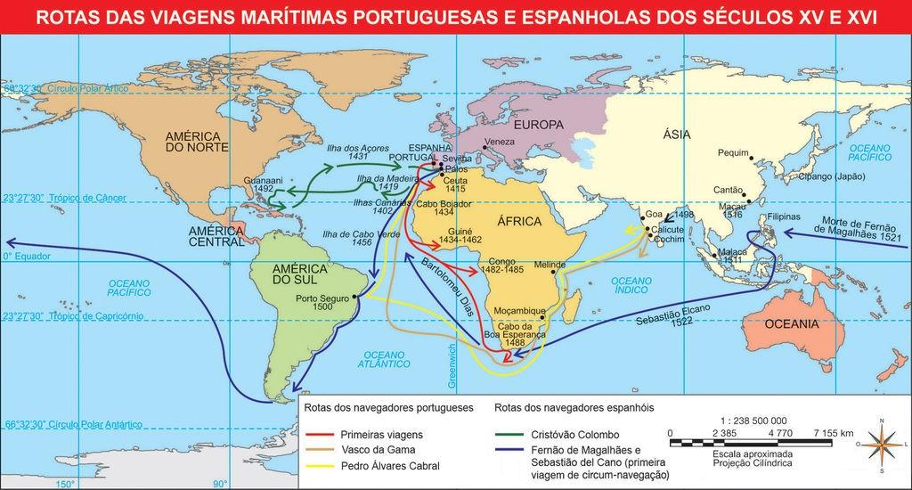 rotas de viagens marítimas globalização