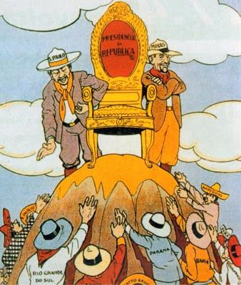 caricatura sobre república oligárquica