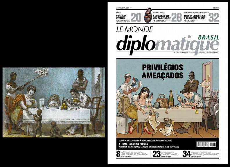 desigualdade racial, Le monde Brasil, capa, Jean-Batist Debret