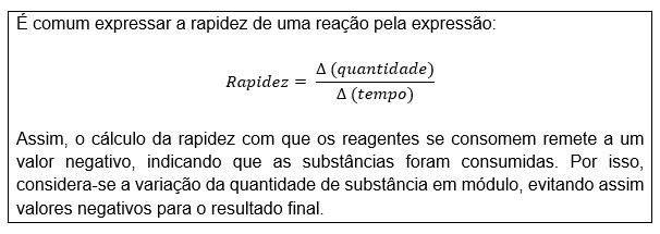 Cinética Química - fórmula