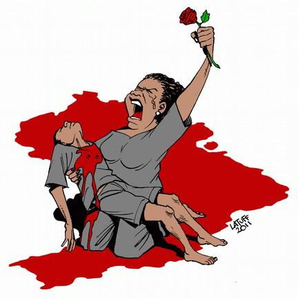 Violência, Charge Latuff, desigualdade racial, racismo