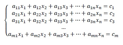 Equações e sistemas lineares - exemplo