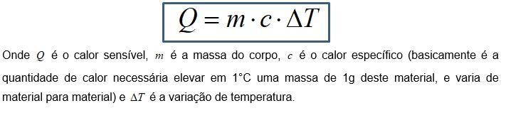 temperatura - calor sensível