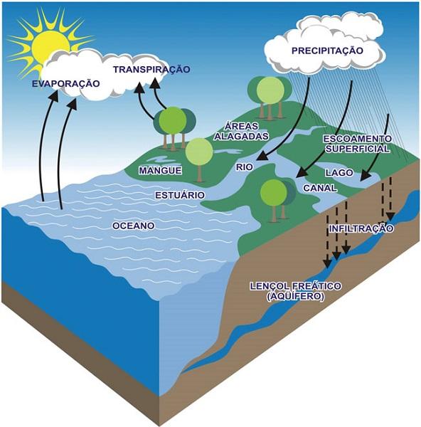 ciclo da água - hidrografia