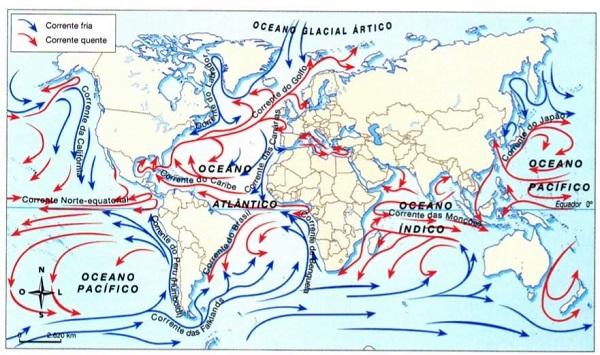 Correntes marinhas - hidrografia