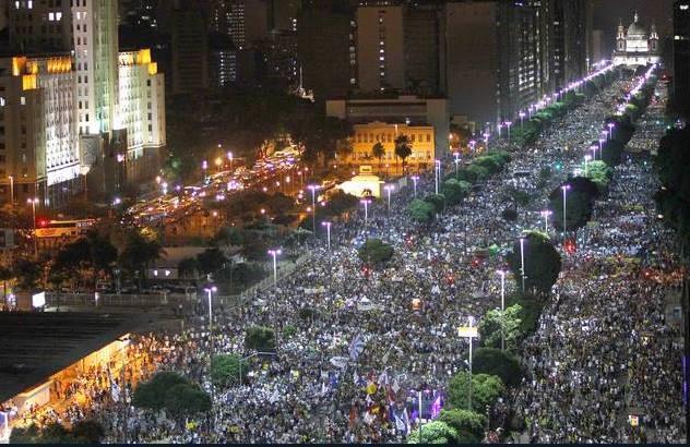 Protestos junho de 2013, movimentos sociais