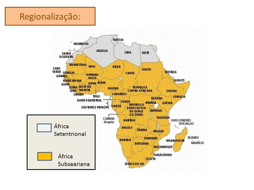 África Subsaariana, África, África Setentrional
