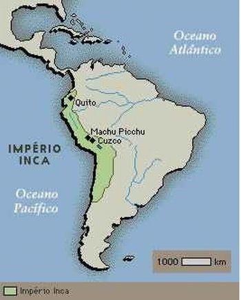 Mapa Império Inca - Incas, Astecas e Maias