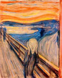 """MUNCH, Edvard. """"O grito"""", 1895. Obra do Expressionismo"""