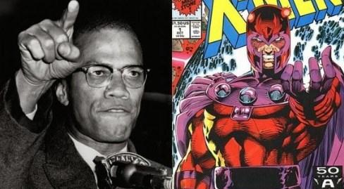 Malcolm X, Magneto, X-Men, movimentos sociais