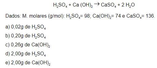 reação química - exercício 2