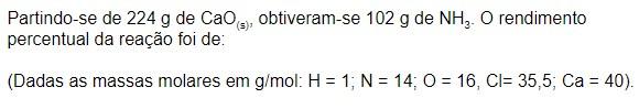 reação química - exercício 4