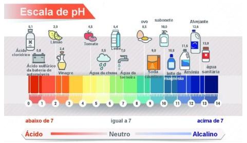 ácidos e bases - escalas