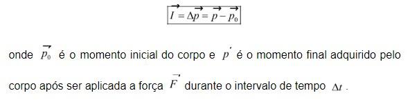 impulso - fórmula