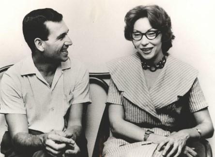 Fernando Sabino e a escritora Clarice Lispector