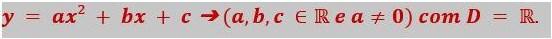 função quadrática - função de segundo grau