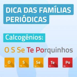 Famílias Periódicas - Macete