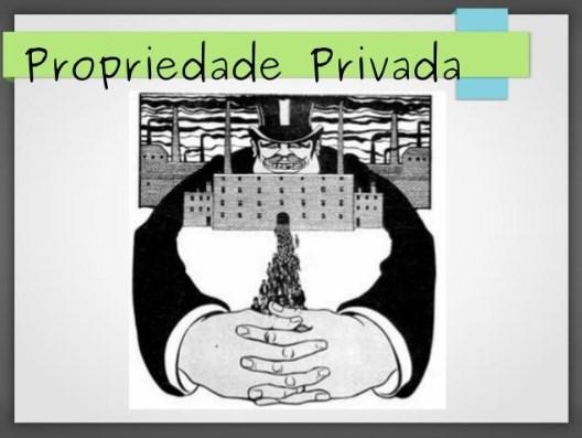 pensamento sociológico - propriedade privada