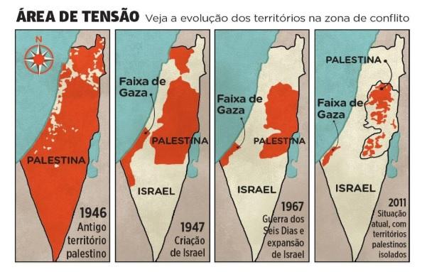 area de tensao na questao de israel