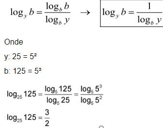 logaritmos - base 5