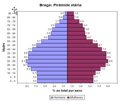 piramide etária demografia