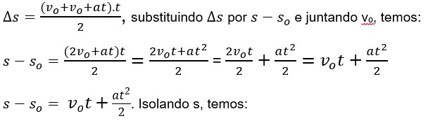 formulas movimento uniformemente variado