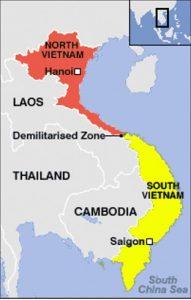 o mapa da guerra do vietna