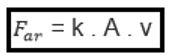 formula da força da resistencia do ar