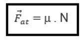 formula da força de atrito