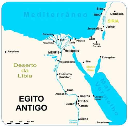 mapa do egito antigo