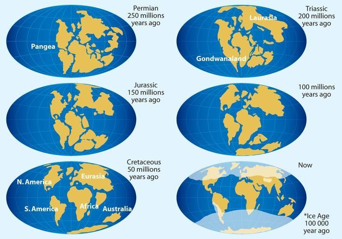 as mudanças da deriva continental