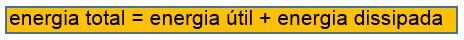 energia total = e util + e dissipada