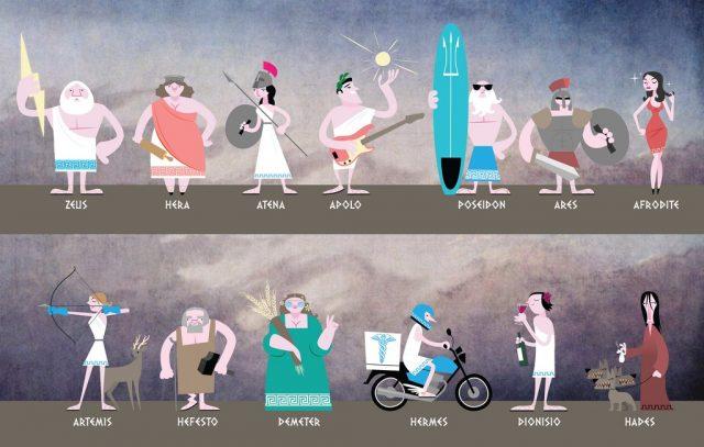 principais deuses da mitologia grega