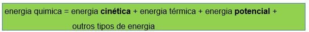 transformação de energia quimica