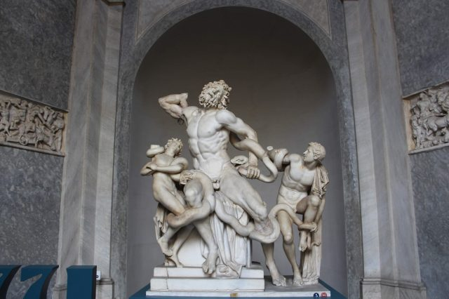 escultura de lacoonte arte romana