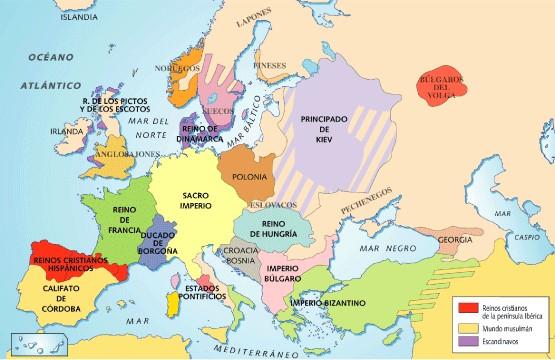 mapa da idade media aula de monarquias nacionais