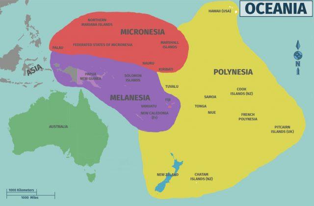 regioes da oceania