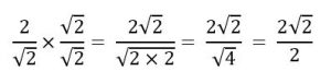 racionalização de denominadores
