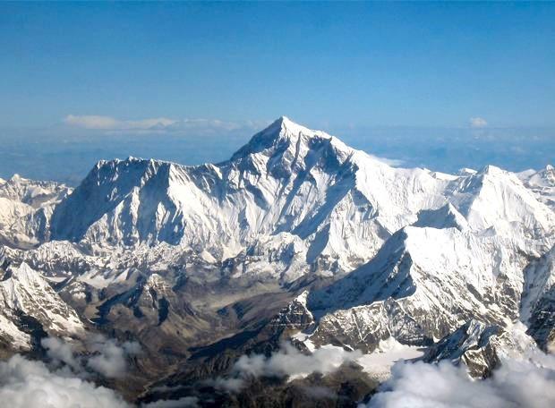 Monte Everest no continente asiático