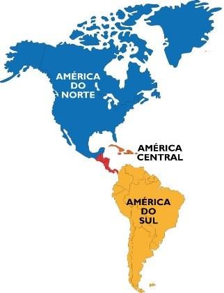 divisão do continente americano