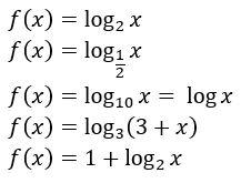 funções logarítmicas