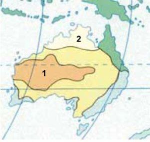 mapa da australia