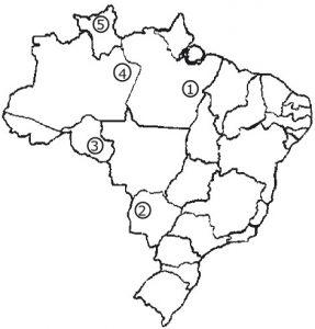 mapa recursos minerais no brasil