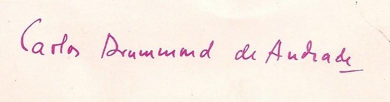 assinatura de carlos drummond