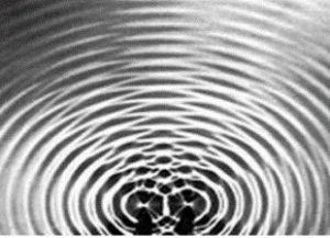 interferência de ondas na água