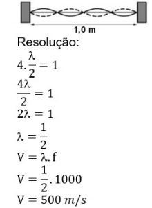 resolução resposta 500m/s