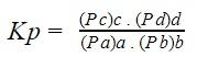 constante de equilíbrio Kp