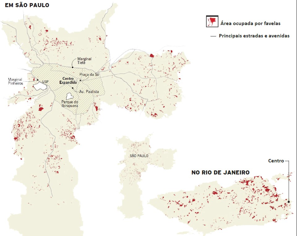 mapa das favelas